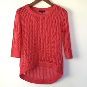 MATERIAL GIRL Bright Pink Loose Knit Sweater M